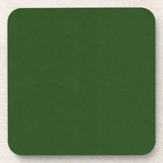 SAND AND BEACH SOLID DARK FOREST GREEN BACKGROUND COASTERS