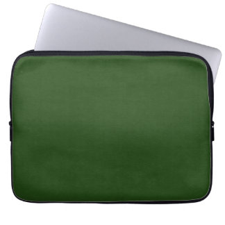 SAND AND BEACH SOLID DARK FOREST GREEN BACKGROUND LAPTOP SLEEVES