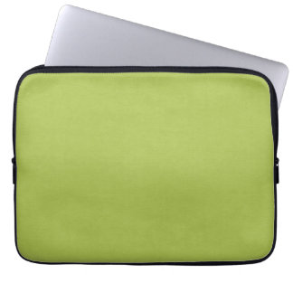 SAND AND BEACH SOLID LOVELY LIME GREEN BACKGROUND LAPTOP COMPUTER SLEEVES