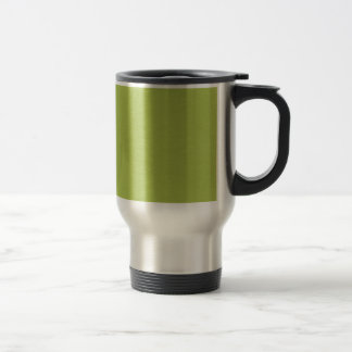 SAND AND BEACH SOLID LOVELY LIME GREEN BACKGROUND TRAVEL MUG