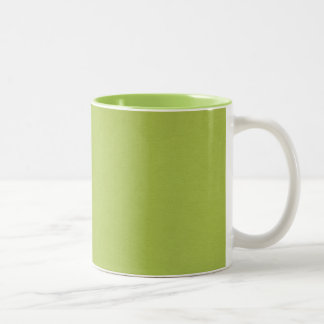 SAND AND BEACH SOLID LOVELY LIME GREEN BACKGROUND Two-Tone COFFEE MUG