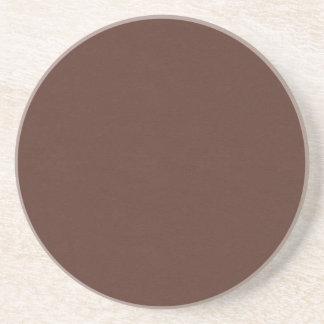 SAND AND BEACH SOLID MEDIUM DARK COFFEE CHOCOLATE COASTER