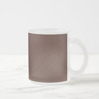SAND AND BEACH SOLID MEDIUM DARK COFFEE CHOCOLATE FROSTED GLASS COFFEE MUG