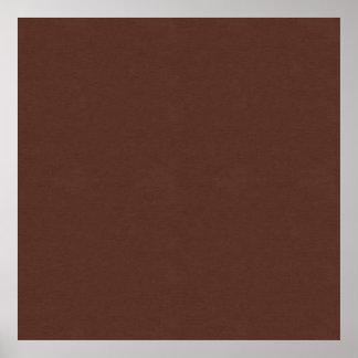 SAND AND BEACH SOLID MEDIUM DARK COFFEE CHOCOLATE POSTER
