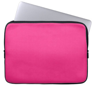 SAND AND BEACH SOLID SUMMER FUCHSIA BRIGHT HOT PIN LAPTOP SLEEVE