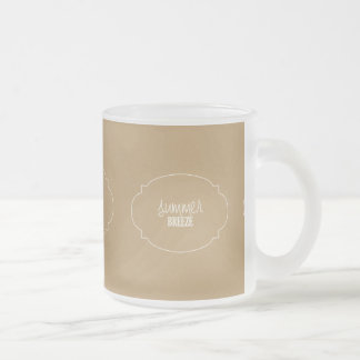 sand-and-beach SUMMER BREEZE SAND BEACH SUMMER SUR Frosted Glass Coffee Mug