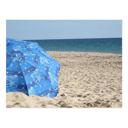 Sand and Blue Postcard
