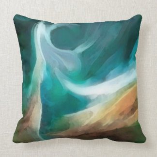 Sand And Sea Art Designer Pillow