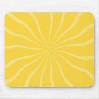 SAND AND SEA BRIGHT YELLOW SUNSHINE SUN RAYS SUMME MOUSE PAD