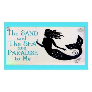 sand and sea mermaid business card 2