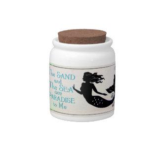 sand and sea mermaid candy jar