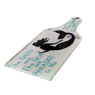 sand and sea mermaid cutting board