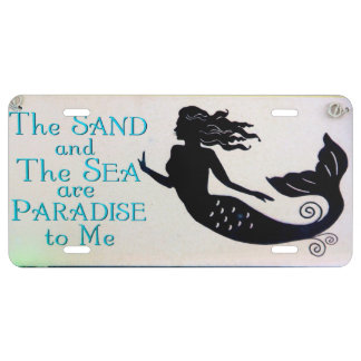 sand and sea mermaid license plate