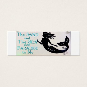 Professional Business sand and sea mermaid skinny business card