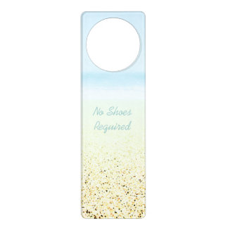 SAND AND SEA 'No Shoes Required' Beach Door Hanger