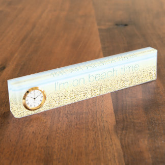 SAND AND SEA 'On Beach Time' Nameplate