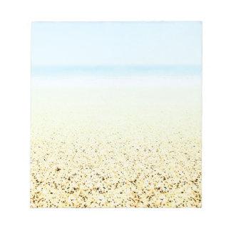 SAND AND SEA Serene Summer Seascape Customizable Note Pad