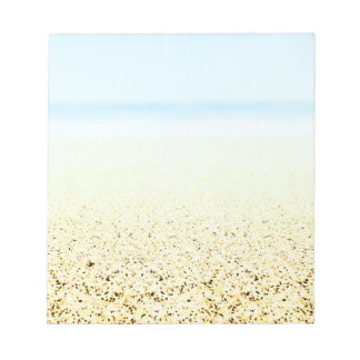 SAND AND SEA Serene Summer Seascape Customizable Notepad