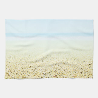 SAND AND SEA Serene Summer Seascape Kitchen Towel