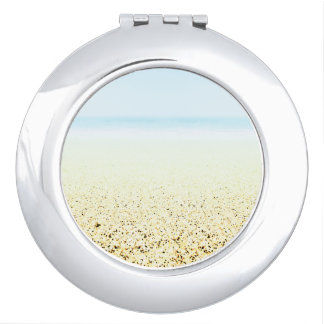 SAND AND SEA Serene Summer Seascape Mirror For Makeup