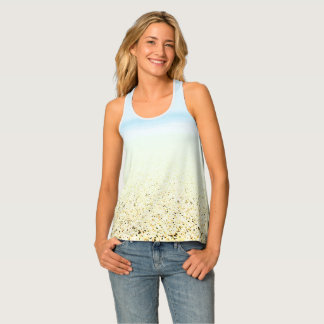 SAND AND SEA Serene Summer Seascape Tank Top