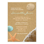 Sand and Shells Beach Birthday Party Invite