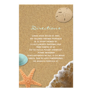 Sand and Shells Beach Directions Flyer