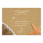 Sand and Shells Beach RSVP with Meal Options 3.5x5 Paper Invitation Card