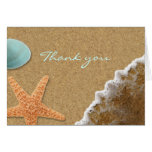 Sand and Shells Beach Thank You Card