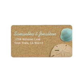 Sand and Shells Beach Theme Address Label