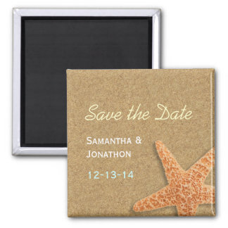 Sand and Shells Beach Theme Save the Date Magnet