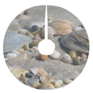 Christmas Themed Sand and Shells Beach Tree Skirt