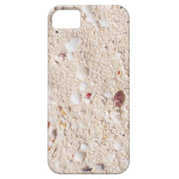 Beach Themed Sand and Shells iPhone SE/5/5s Case