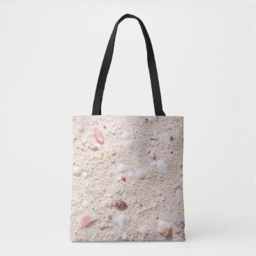 Beach Themed Sand and Shells Tote Bag
