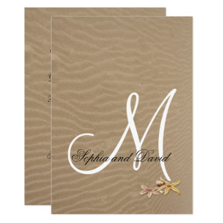 Sand and Starfishes Beach Wedding Invitation