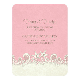 Sand and Stars Pink Beach Reception Card