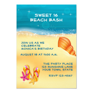 Sand and Surf Beach Party Card