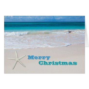 Christmas Themed Sand and Surf Tropical Christmas Holiday Cards