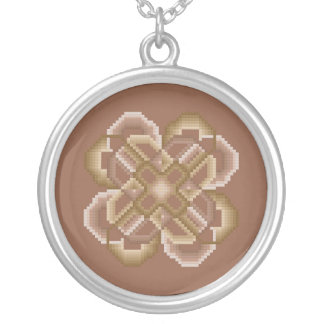 Sand and Tan Crazy Circles Necklace