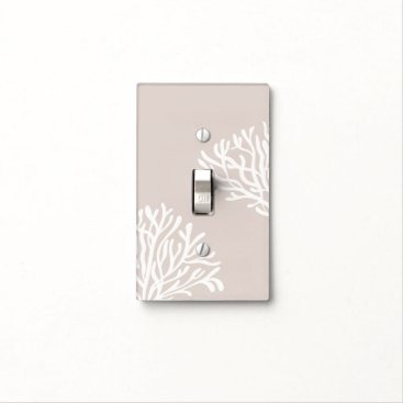 Beach Themed Sand and White Coral Light Switch Cover