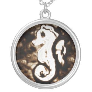 Sand Art Seahorse Pendant