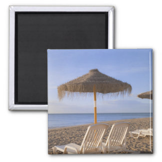 Sand Beach Chairs with Umbrella 2 Inch Square Magnet