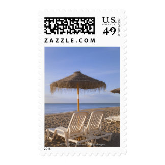 Sand Beach Chairs with Umbrella Stamps