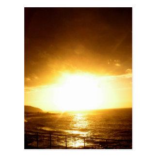 Sand Beach Sunset Postcard
