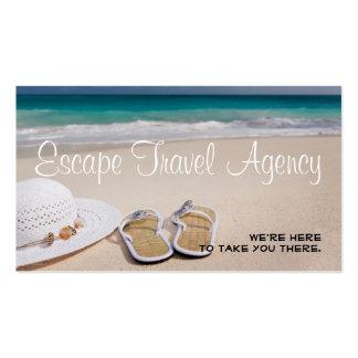 Sand Beach Travel Agency Agent Business Card