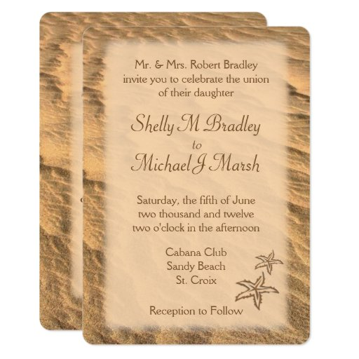 Sand Beach Wedding Invitation