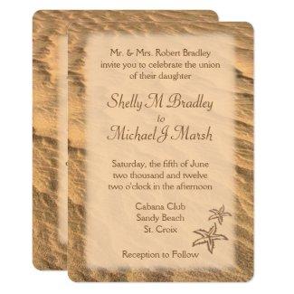 Sand Beach Wedding Invitation