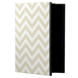 Sand Beige White Large Chevron ZigZag Pattern Powis iPad Air 2 Case