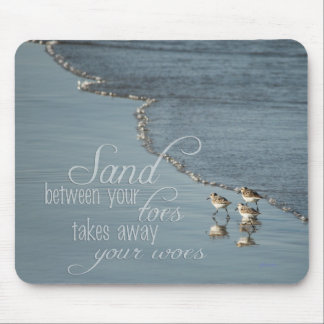 Sand Between Your Toes Beach Custom Mouse Pad