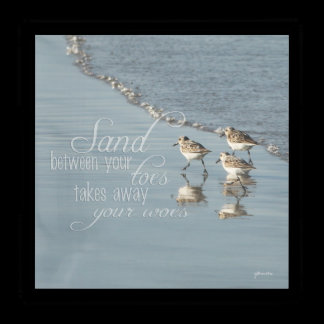 Sand Between Your Toes Beach Quote Acrylic Tray